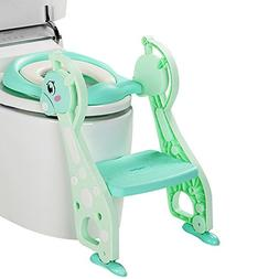 Kidsidol Baby Potty Toilet Seat with Step Trainer Ladder Stu