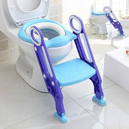 Makone Potty Trainer Seat Adjustable Baby Potty Toilet Ladde