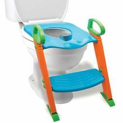 Potty Toilet Training Seat w/ Non-Slip Stepladder & Easy-Gri