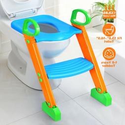 Kids Potty Training Seat with Step Stool Ladder for Child To