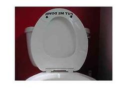 "PUT ME DOWN TOILET SEAT 7"" STICKER BATHROOM John POTTY FUNNY"