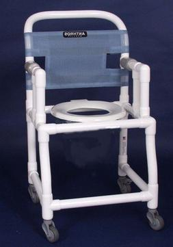 "18"" PVC Bedside Commode / Shower Chair Color / Seat / Footre"