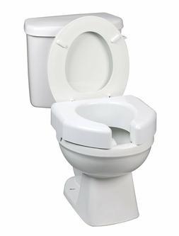 """Raised Toilet Seat, 3"""", White, 350 lbs. #725790000"""