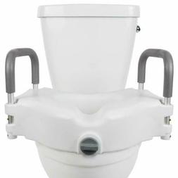"Vive Raised Toilet Seat - 5"" Portable, Elevated Riser with P"