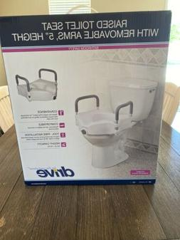 Raised Toilet Seat Lift 5in Height Riser Bath Safety Handica
