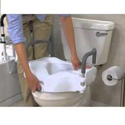 Raised Toilet Seat Lift 5in Height Riser Bath Safety Handica