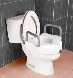 Raised Toilet Seat - Blow molded locking raised toilet seat