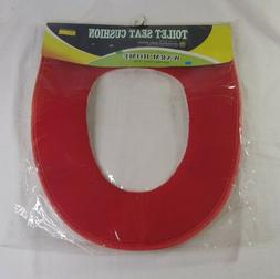Red Toilet Seat Cushion Household Ware Series Warm Comfort S