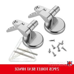 US Alloy Replacement Toilet Seat Hinges Mountings Set Chrome