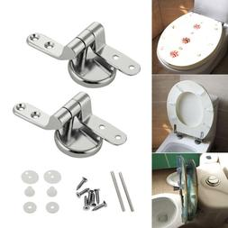 Replacement Chrome Toilet Seat Hinges Set Pair With Fittings