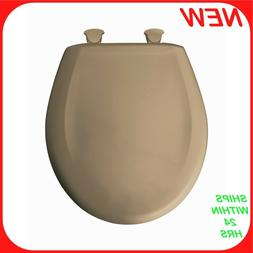 Residential Plastic Round Toilet Seat, Sand