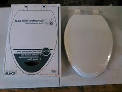 KOHLER Ridgewood Wood Elongated Slow-Close Toilet Seat