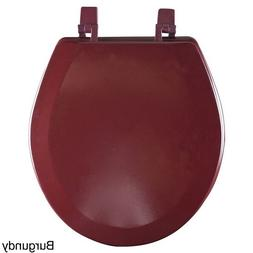 Wood Toilet Seat Round Decorative Burgundy Colored Lid Best