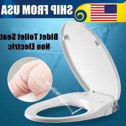 ROUND Toilet Bidet Seat, Non Electric, Sleek & Simple to Ins