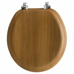 Bemis  Mayfair  Round  Oak  Wood  Toilet Seat