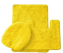 Royal Plush Collection 3-Piece Bathroom Rug Set, Bath Mat, C