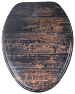Sanilo Elongated Toilet Seat,  Molded Wood, Strong Hinges Vi