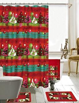BH Home & Linen Season's Greetings 18 Piece Embroidery Bath