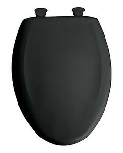 BEMIS Slow Soft Close Elongated Closed Front Toilet Seat Bla