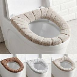 Soft Bathroom Toilet Seat Closestool Washable Warmer Mat Cov