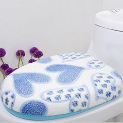 Soft Coral Fleece Two-piece Toilet Pad Seat Cover Warm Washa