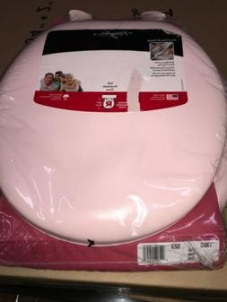 Bemis Soft Padded Round Closed Front Toilet Seat Pink Bathro