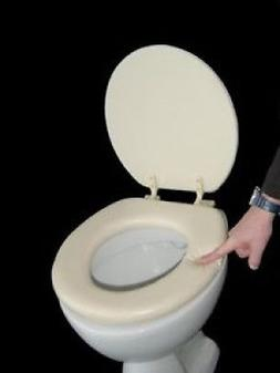 Soft Padded Toilet Seat Beige. ADOB. Best Price
