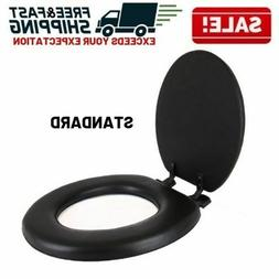Soft Padded Toilet Seat Cushioned Standard Round Bowl Cover