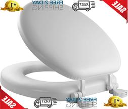 Mayfair Soft Toilet Seat with Molded Wood Core and Classic C