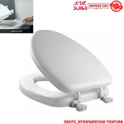 Soft Padded Toilet Seat Premium Cushioned Elongated Cover Ba