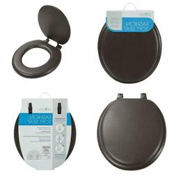 Ginsey Soft Toilet Seat w/ Cover Padded Round Standard Bathr