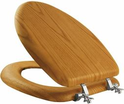 Solid Natural Oak Wood Toilet Seat Elongated Bathroom Bowl B