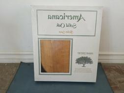 Americana Solid Oak Standard Toilet Seat Sealed NEW