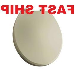 Solid Plastic Round Toilet Seat, Bone