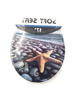 Starfish Soft Padded Cushion Toilet Seat Round Standard Size