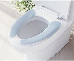 Lifechaser Sticky Toilet Seat Lid Warmer Cover Pads Washable