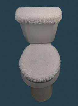 Super Soft & Silky Furry Fleece 2Pc Toilet Seat and Tank Lid