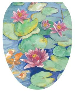 Themes Lily Pad Toilet Seat Decal, Elongated