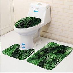 Keshia Dwete three-piece toilet seat pad customGreen Tropica