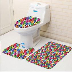 Keshia Dwete three-piece toilet seat pad customCartoon Color