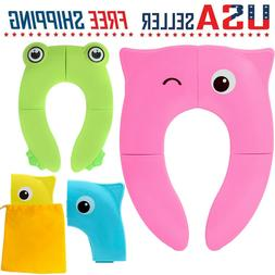Toddler Kids Baby Folding Potty Seat Cover Toilet Training S