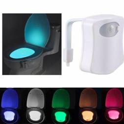 Toilet Bathroom LED Night Light PIR Motion Activated Seat Se