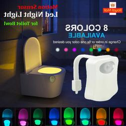 Toilet light night PIR motion led activated seat 8 color aut