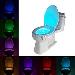 Uleade LED Light Sensor Motion Activated Glow Toilet Bowl Li
