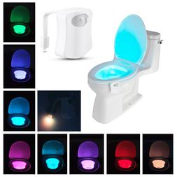 Toilet Night Light 8 Color LED Motion Activated Sensor Lamp