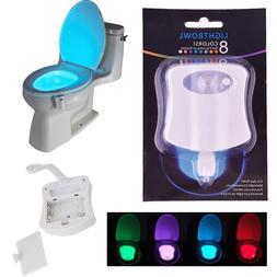 toilet night light 8 color led motion