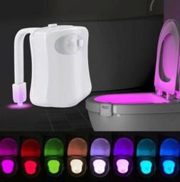 Toilet Night Light 8Color LED Motion Sensor Activated WC Bat