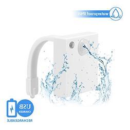 Toilet Night Light, DORESshop USB Rechargeable Toilet Bowl L