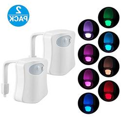 2-Pack Original Toilet Night Light Gadget, Fun Bathroom Ligh
