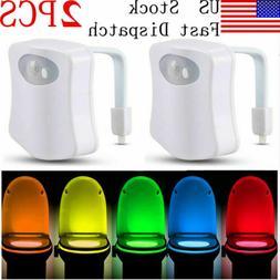Toilet Night Light 8 Color LED Motion Activated Sensor Bathr